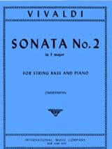 VIVALDI - Sonata No. 2 in F major - String bass - Sheet Music - di-arezzo.co.uk