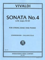VIVALDI - Sonata No. 4 in B flat maj. - String bass - Sheet Music - di-arezzo.com