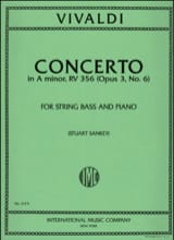 VIVALDI - Concerto in A minor op. 3 n ° 6 - String Bass - Sheet Music - di-arezzo.co.uk