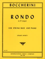 Rondo in D major - String bass BOCCHERINI Partition laflutedepan.com