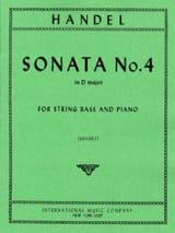HAENDEL - Sonata No. 4 in D major - String bass - Sheet Music - di-arezzo.co.uk