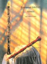Sonate pour hautbois et piano - Emmanuel Savoye - laflutedepan.com