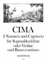 2 Sonaten und Capriccio Giovanni Paolo Cima Partition laflutedepan.com