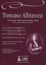 Tomaso Albinoni - Concerto In D Maj. -Co1 - Volume 1 - Sheet Music - di-arezzo.com