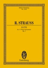 Richard Strauss - Suite, Opus 4 - Partition - di-arezzo.fr