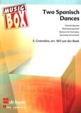 2 Spanish Dances - Clarinet quartet Enrique Granados laflutedepan.com