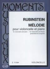 Mélodie op. 3 n° 1 Anton Rubinstein Partition laflutedepan.com