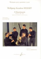 MOZART - 3 Divertimenti KV 213, 240, 252 - Woodwind quintet - Sheet Music - di-arezzo.co.uk