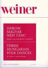Leo Weiner - 3 Hungarian Folk Dances - Partition - di-arezzo.fr