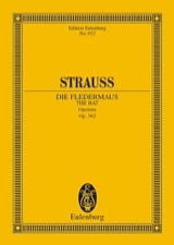 Johann (Fils) Strauss - Die Fledermaus - Conducteur - Partition - di-arezzo.fr