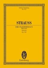 Johann (Fils) Strauss - Die Fledermaus - Conducteur - Partition - di-arezzo.fr