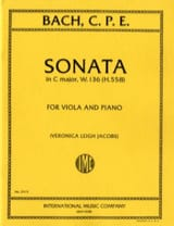 Sonate C major, W. 136 H. 558 - Viola laflutedepan.com