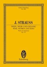 Johann (Fils) Strauss - Wein, Weib und Gesang, op. 333 - Partition - di-arezzo.fr