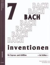 7 Inventions - 2 Flûtes à Bec BACH Partition laflutedepan