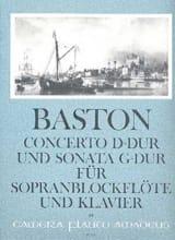 Concerto D-Dur und Sonata G-Dur - Sopranblockflöte Klavier laflutedepan.com