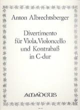 Anton Albrechtsberger - Divertimento in C-Dur –Vla Vc Kb –Stimmen - Partition - di-arezzo.fr