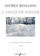A Mind of Winter – Score George Benjamin Partition laflutedepan.com