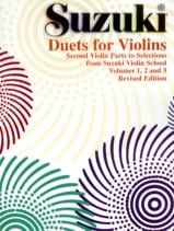 Duets for violins Suzuki Partition Violon - laflutedepan.com