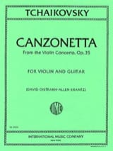TCHAIKOVSKY - Canzonetta from Violin Concerto op. 35 - Violin Guitar - Partition - di-arezzo.fr