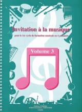 Jean-Francois Alexandre - Invitation à la Musique - Volume 3 - Partition - di-arezzo.fr