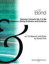 Concerto pour Basson n° 6 en Sib Maj. Capel Bond laflutedepan.com