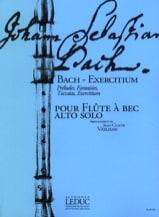 Bach - Exercitium - Flûte à bec alto BACH Partition laflutedepan.com