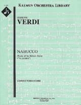 VERDI - Nabucco, Chorus of Hebrew Slavs - Score - Sheet Music - di-arezzo.co.uk