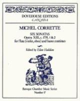 Michel Corrette - 6 Sonatas op. 13 n° 1-2 – Flute Bc - Partition - di-arezzo.fr