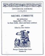 Michel Corrette - 6 Sonatas op. 13 n° 5-6 - Flute Bc - Partition - di-arezzo.fr