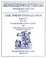 Carl Philipp Emanuel Bach - Sonata in U - W. 136 - Sheet Music - di-arezzo.com