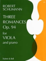 Robert Schumann - 3 Romances op. 94 - Partition - di-arezzo.fr