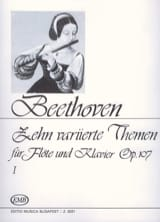 BEETHOVEN - 10 Variierte Themen, op. 107 Volume 1 - Klavier Flute - Sheet Music - di-arezzo.co.uk