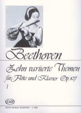 Ludwig van Beethoven - 10 Variierte Themen, op. 107 (Volume 1) –Flöte Klavier - Partition - di-arezzo.fr