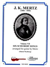 Six Schubert Songs Vol 7 SCHUBERT Partition Guitare - laflutedepan