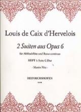 2 Suiten Op. 6 - Heft 1 d'Hervelois Louis de Caix laflutedepan.com