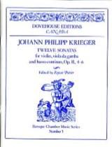 12 Sonates op. 2 n° 4-6 Johann Philipp Krieger laflutedepan.com