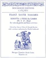 Franz Xaver Hammer - Sonata No. 5 in D major - Sheet Music - di-arezzo.com