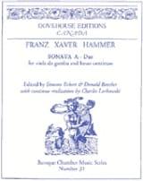 Franz Xaver Hammer - Sonata In the Major - Sheet Music - di-arezzo.com