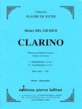Clarino Michel Delgiudice Partition Clarinette - laflutedepan.com
