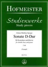 Sonate D-Dur T 40 Johann Matthias Sperger Partition laflutedepan.com