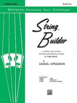 Samuel Applebaum - String Builder Volume 1 - Piano Accompaniment - Sheet Music - di-arezzo.co.uk