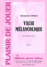 Alexandre Carlin - Valse mélancolique - Partition - di-arezzo.fr