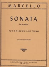 Benedetto Marcello - Sonata in A minor - Bassoon piano - Partition - di-arezzo.fr