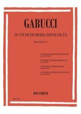 Agostino Gabucci - 20 Studi di media difficolta - Sheet Music - di-arezzo.co.uk