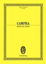 André Campra - Messe de Mort (Requiem) - Partition - di-arezzo.fr