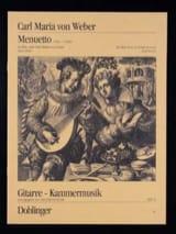Menuett Mit Trio A-Dur Carl Maria von Weber Partition laflutedepan.com