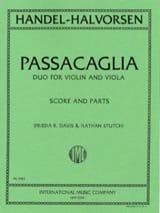 HAENDEL - Passacaglia - Violin viola - Partition - di-arezzo.fr