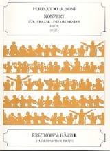 Ferruccio Busoni - Concerto en Ré Maj., Op. 35a - Partition - di-arezzo.fr