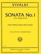 Sonate n° 1 in B flat maj. RV 47 - String bass VIVALDI laflutedepan