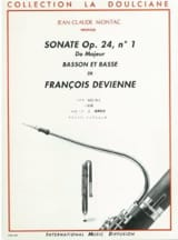 François Devienne - Sonata op. 24 n ° 1 - Bassoon and bass - Sheet Music - di-arezzo.co.uk